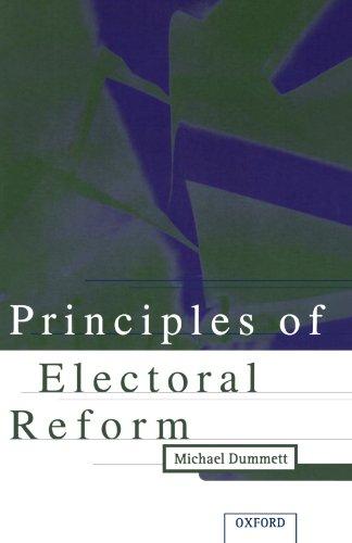 9780198292463: Principles Of Electoral Reform
