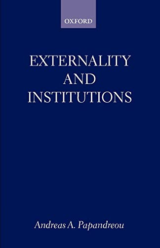 9780198293071: Externality and Institutions