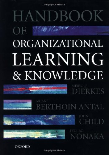 9780198295839: Handbook of Organizational Learning and Knowledge