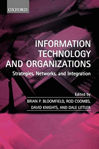 9780198296119: Information Technology and Organizations: Strategies, Networks, and Integration