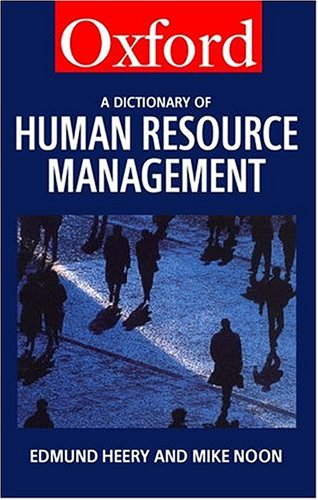 9780198296188: A Dictionary of Human Resource Management