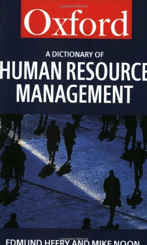 9780198296195: A Dictionary of Human Resource Management