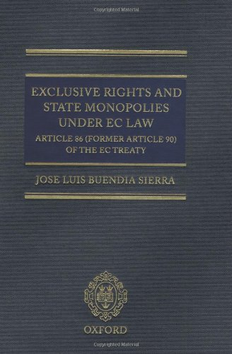 9780198298205: Exclusive Rights and State Monopolies under EC Law: Article 86 (former Article 90) of the EC Treaty