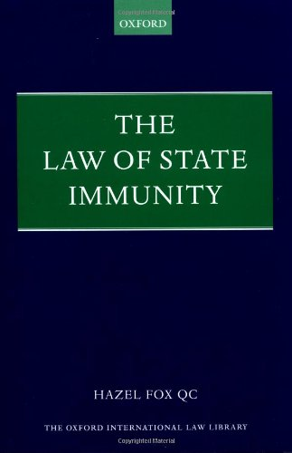 9780198298366: The Law of State Immunity (Foundations of Public International Law)