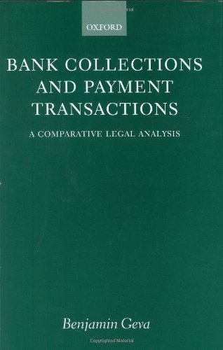 9780198298533: Bank Collections and Payment Transactions: Comparative Study of Legal Aspects