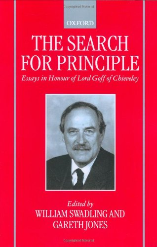 9780198298830: The Search for Principle: Essays in Honour of Lord Goff of Chieveley
