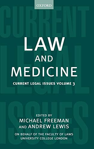 9780198299189: Law and Medicine: Current Legal Issues 2000 Volume 3