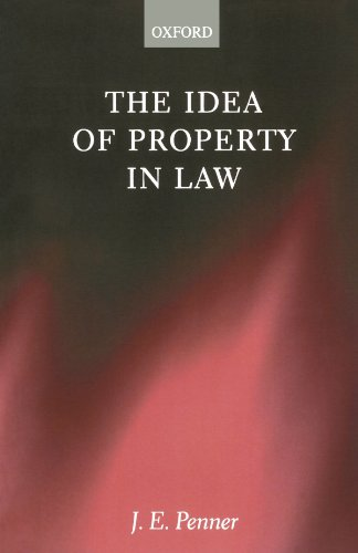 9780198299264: The Idea of Property in Law