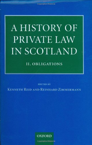 9780198299288: A History of Private Law in Scotland: Volume 2: Obligations: Obligations Vol 2