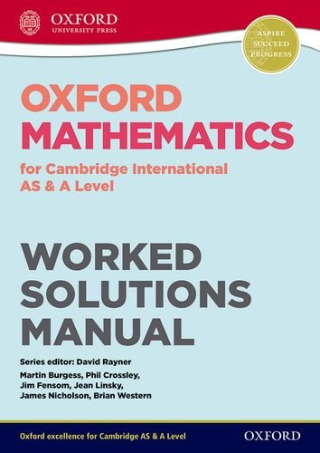 9780198306955: Oxford Mathematics for Cambridge International AS & A Level Worked Solutions Manual CD (CIE A Level)