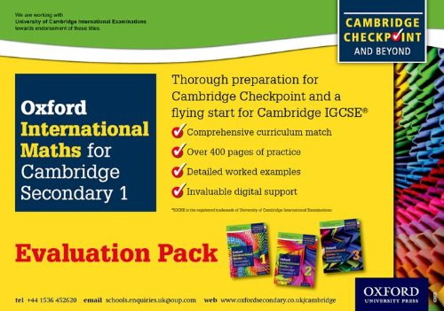 9780198307372: Complete Mathematics For Cambridge Secondary 1- Evaluation Pack: For Cambridge Checkpoint and beyond