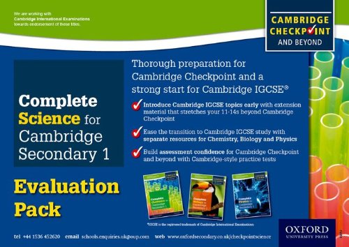 9780198307389: Complete Science for Cambridge Secondary 1 Evaluation Pack: For Cambridge Checkpoint and beyond
