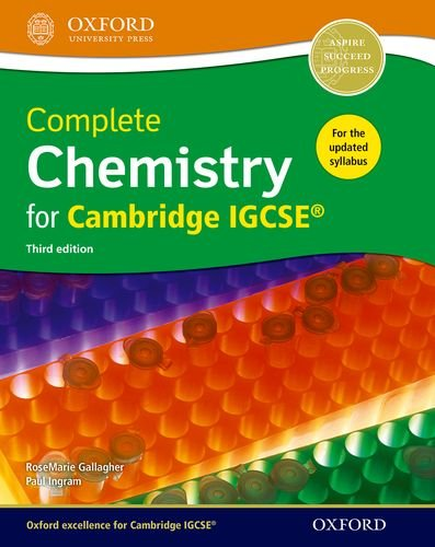 9780198308706: Complete science for Cambridge IGCSE complete chemistry for Cambridge IGCSE. Per le Scuole superiori (Complete Science Igcse)