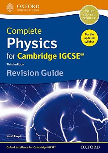 9780198308744: Complete Physics for Cambridge IGCSE ® Revision Guide (Third edition) (Igcse Revision Guides)