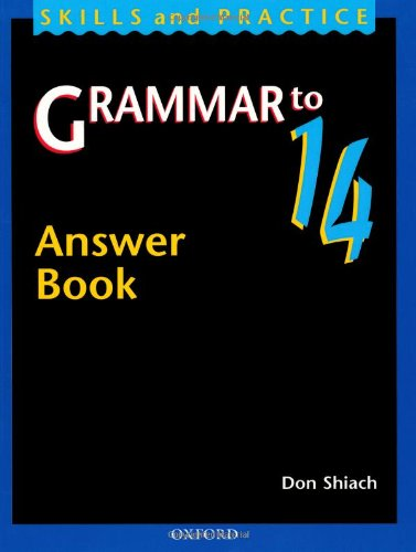 9780198314455: Grammar to 14: Answer Book (Skills and practice)