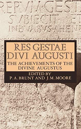 9780198317722: Res Gestae Divi Augusti: The Achievements of the Divine Augustus