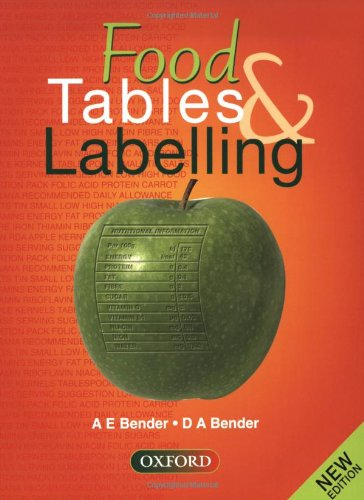 9780198328148: Food Tables and Labelling