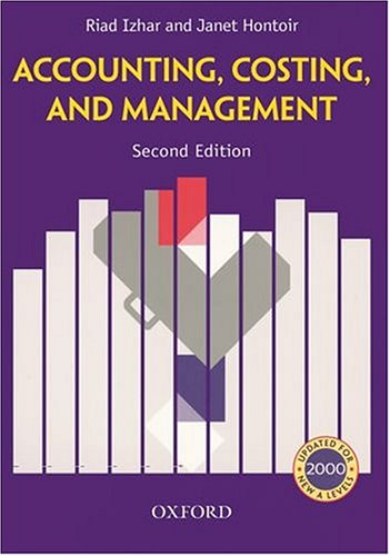 9780198328230: Accounting, Costing and Management
