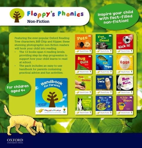 9780198332503: Floppy's Phonics Non-Fiction 13 Books set With Handbook For Parents (Pets,fun on canal, kick it , bug quiz, fish and ships , eggs,garden, barn owls,men on the moon,after a dog, pond dip, a trip to the beach)