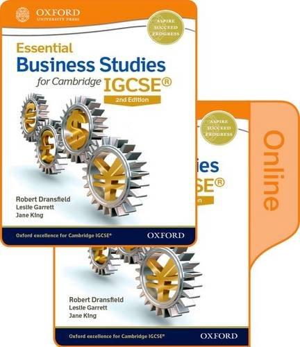Essential Business Studies for Cambridge IGCSE: Dransfield, Robert, Cook, Terry L., King, Jane