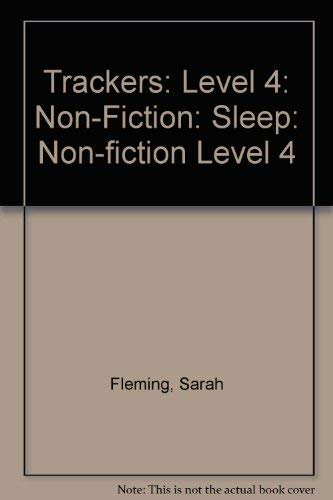 9780198383192: Trackers: Level 4: Non-Fiction: Sleep: Non-fiction Level 4
