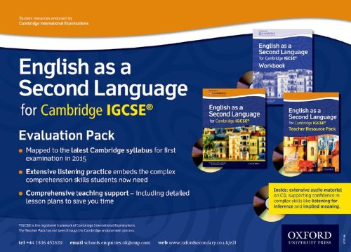 9780198392866: English as a Second Language for Cambridge IGCSERG: Evaluation Pack