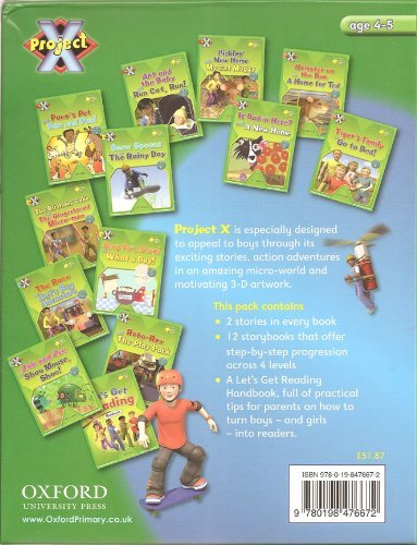 9780198476672: Project X - Power of Reading RRP £51.87: 12 Books of 2 stories each plus teacher/parent Handbook - incl. Pickles' New Home and My Cat Moggy, Ant and the Baby and Run Cat, Run!, Is Dad in Here? and A New Home, Tiger's Family and Go to Bed ....... (Oxford Reading Tree)