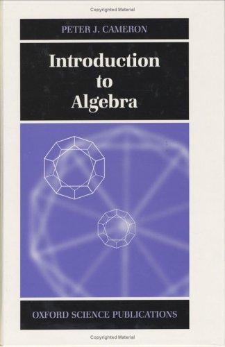 9780198501954: Introduction to Algebra