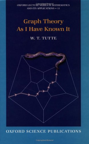 9780198502517: Graph Theory As I Have Known It