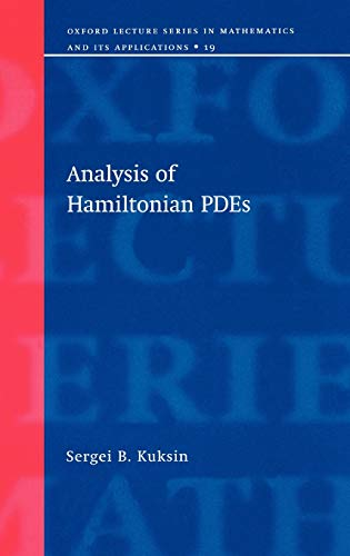 9780198503958: Analysis of Hamiltonian PDEs (Oxford Lecture Series in Mathematics and Its Applications)