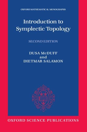 Introduction to Symplectic Topology (Oxford Mathematical Monographs): Salamon, Dietmar, McDuff,