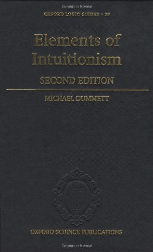 9780198505242: Elements of Intuitionism