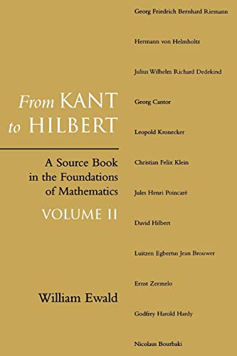 9780198505365: From Kant to Hilbert Volume 2