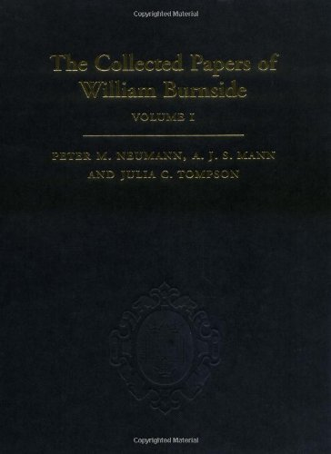 9780198505853: The Collected Papers of William Burnside: 2-Volume Set (Mathematics)