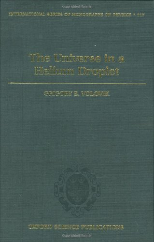 9780198507826: The Universe in a Helium Droplet (International Series of Monographs on Physics)
