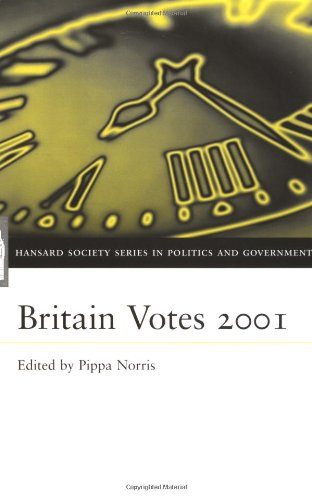 9780198510499: Britain Votes 2001 (Hansard Society Series in Politics and Government)