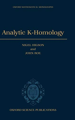 9780198511762: Analytic K-Homology (Oxford Mathematical Monographs)