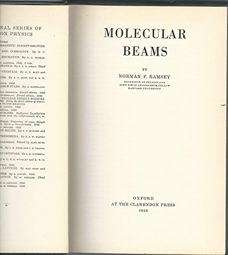 9780198512271: Molecular Beams (the International Series Of Monographs On Physics)