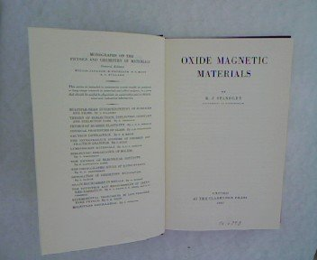 9780198513186: Oxide Magnetic Materials