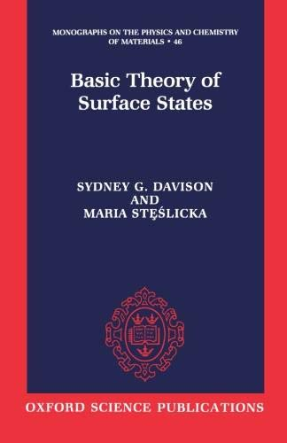 9780198518969: Basic Theory of Surface States (Monographs on the Physics and Chemistry of Materials)