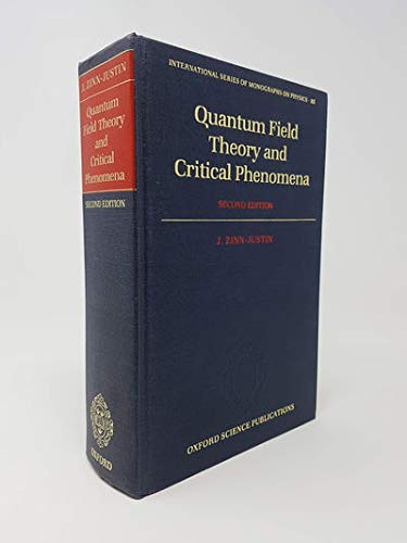 9780198520535: Quantum Field Theory and Critical Phenomena