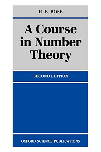 9780198523765: A Course in Number Theory