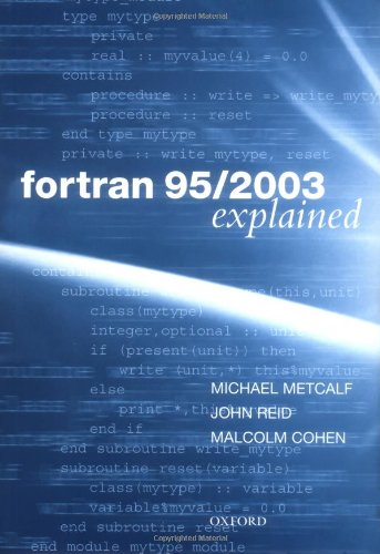 9780198526933: Fortran 95/2003 Explained (Numerical Mathematics and Scientific Computation)
