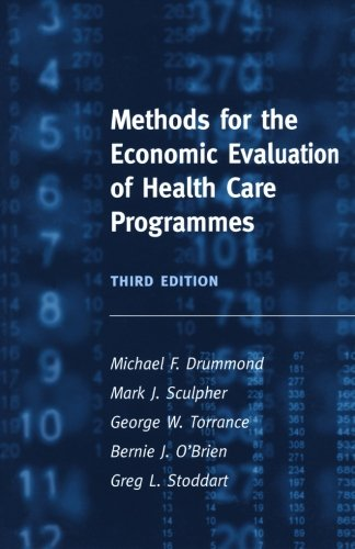 Methods for the Economic Evaluation of Health Care Programmes