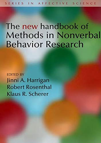 9780198529613: The New Handbook of Methods in Nonverbal Behavior Research