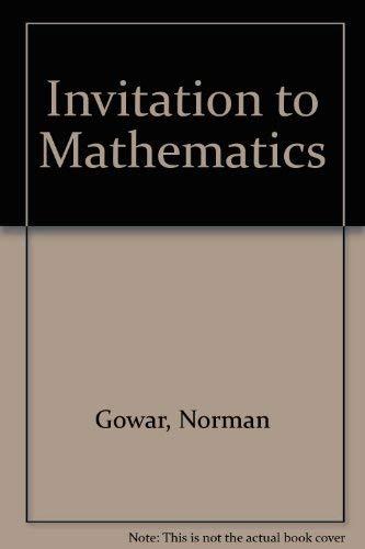 9780198530022: Invitation to Mathematics