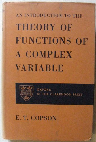 Introduction to the Theory of Functions of: Copson, E.T.