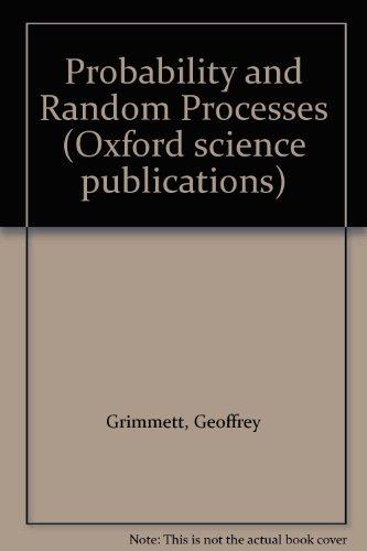 9780198531852: Probability and Random Processes