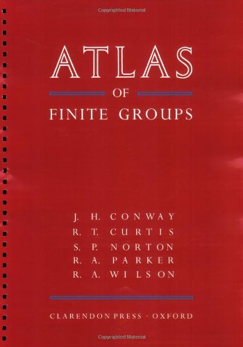 9780198531999: ATLAS of Finite Groups: Maximal Subgroups and Ordinary Characters for Simple Groups
