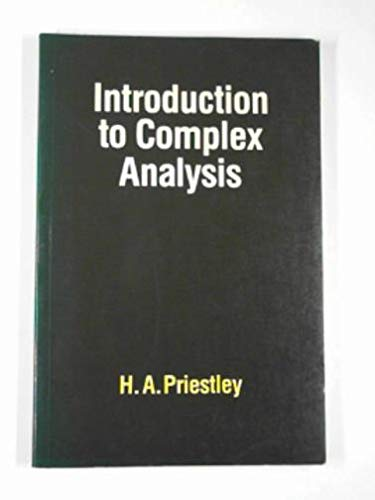 9780198532460: Introduction to Complex Analysis
